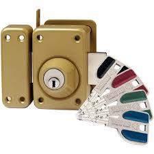 Verrous avec clés sécuriseées brevetées.